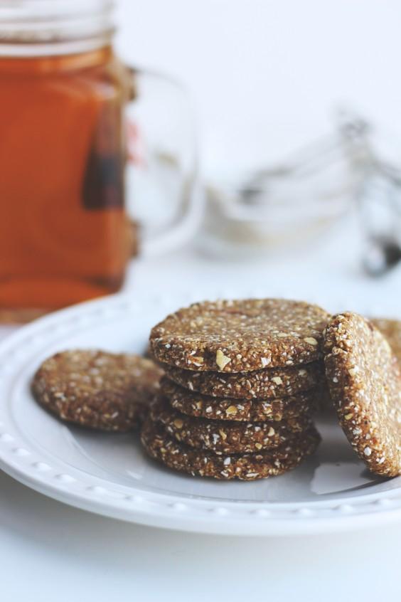 raw chia cookies