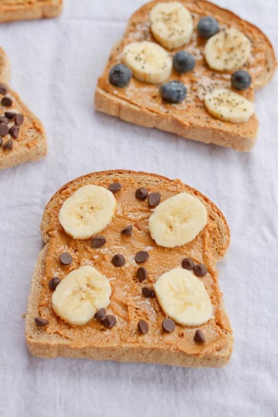 peanut butter toast four ways