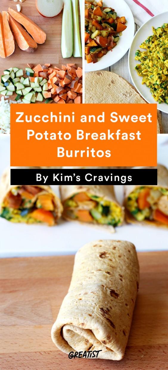 Breakfast for Dinner Recipes: Zucchini and Sweet Potato Breakfast Burritos