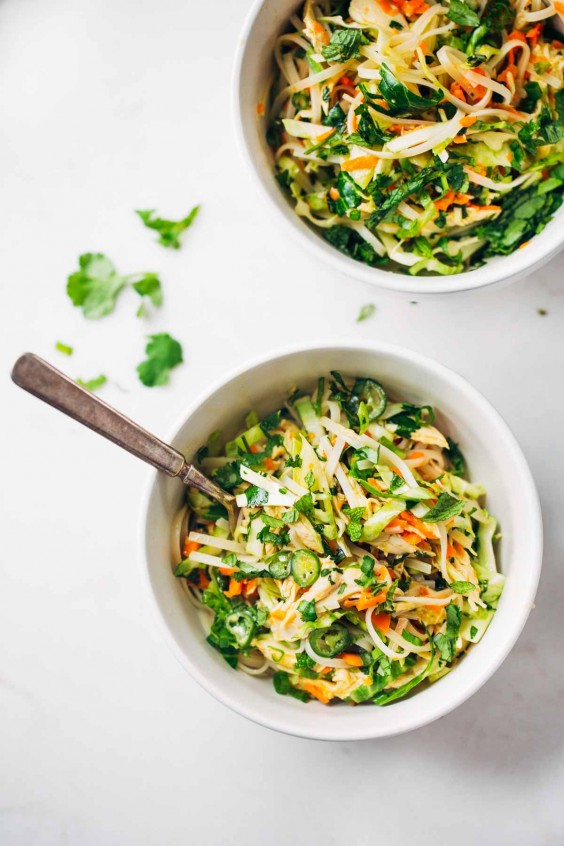 Asian Salad Recipe: Vietnamese Chicken Salad With Rice Noodles