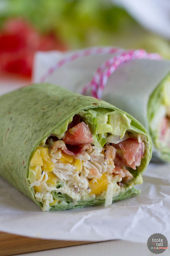 Lunch Ideas: California Chicken Cobb Wrap