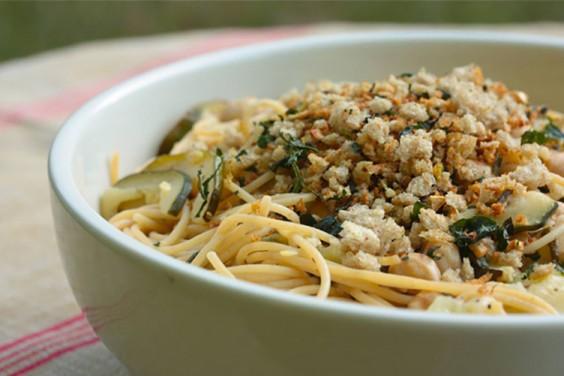 Pasta Zucchini Chickpeas