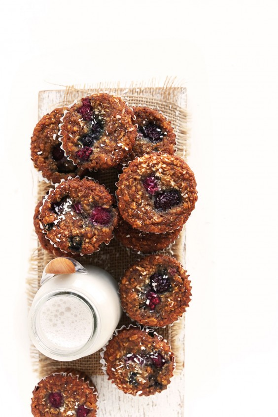8. One Day Berry Coconut Muffins