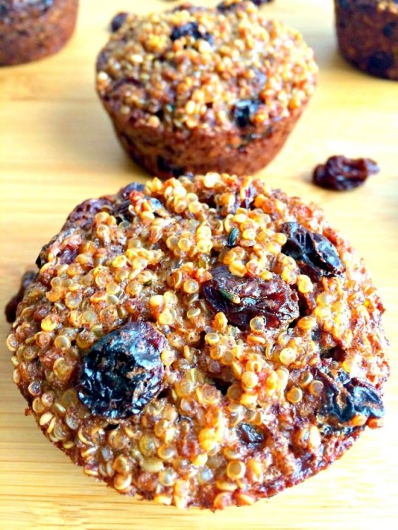 8. Quinoa Raisin Muffin Bites