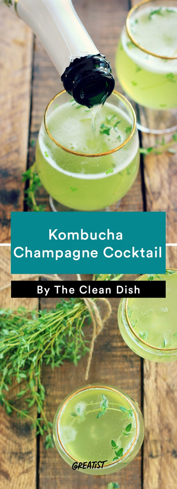 Kombucha Champagne Cocktail Recipe