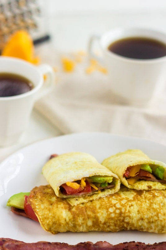 breakfast wraps with eggs