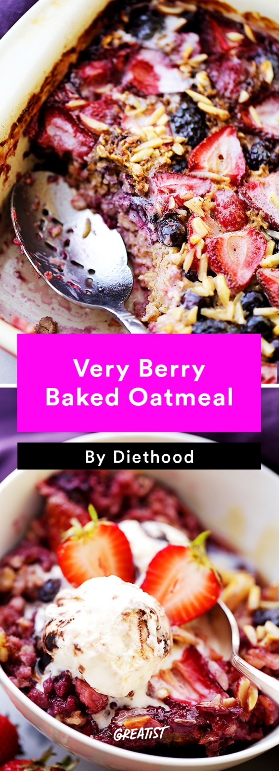 Breakfast for Dinner Recipes: Very Berry Baked Oatmeal