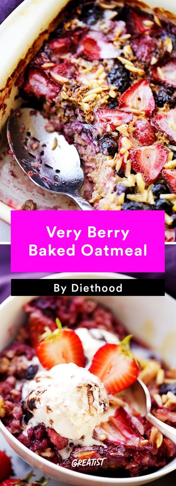 Breakfast for Dinner Recipes: Very Berry Baked Oatmeal