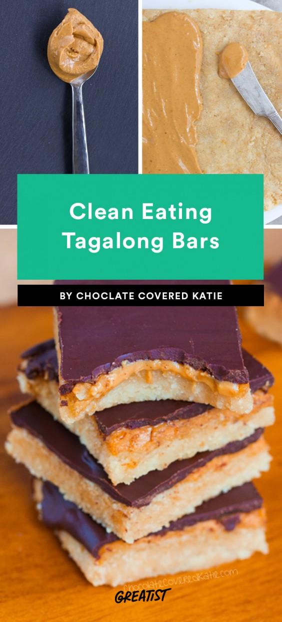 Clean Eating Tagalong Bars