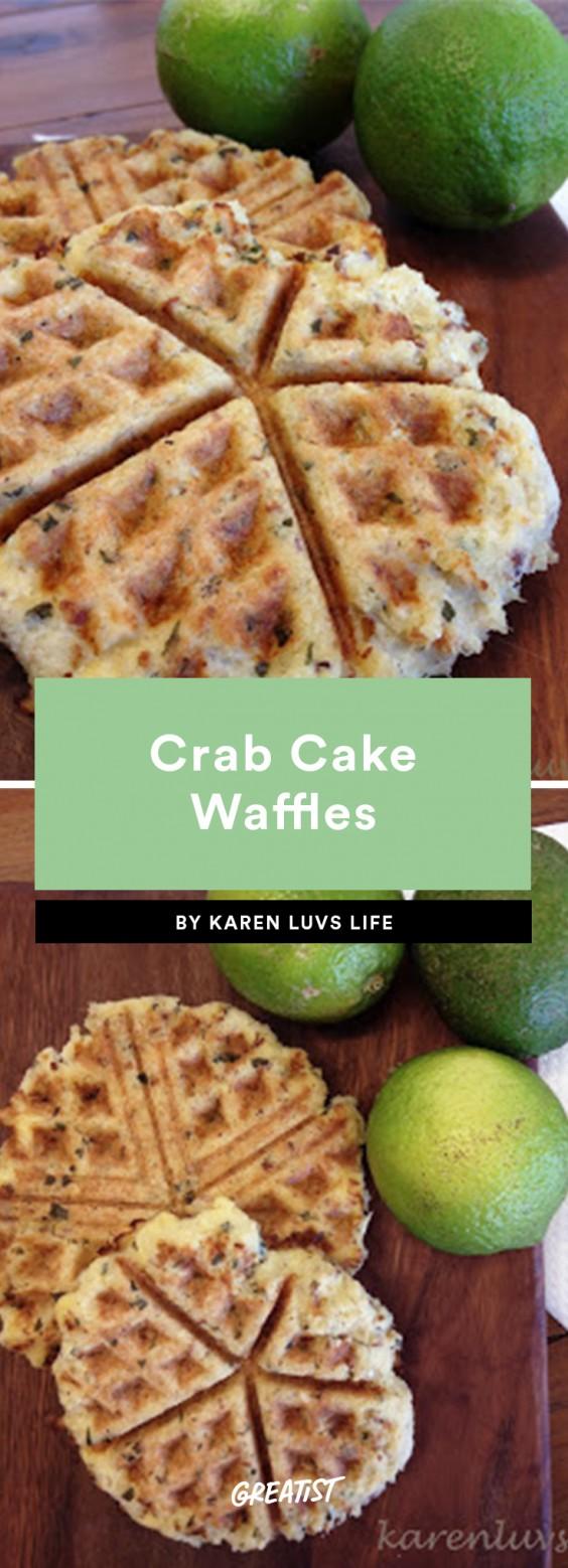 Crab Cake Waffles
