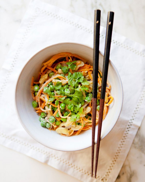 Thai Green Curry and Sweet Potato Noodle Bowl