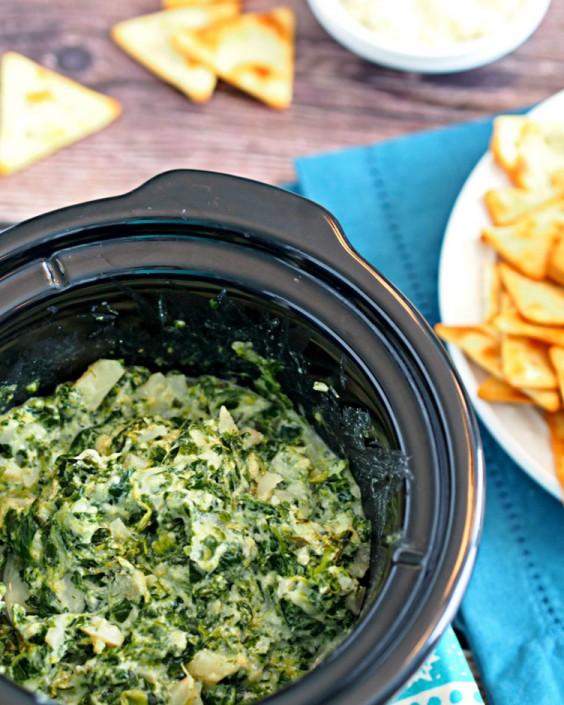Skinny Parmesan Spinach Dip