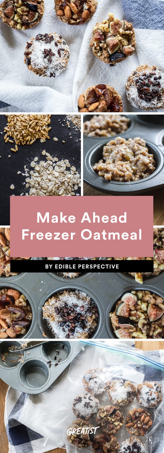 Make Ahead Frozen Oatmeal