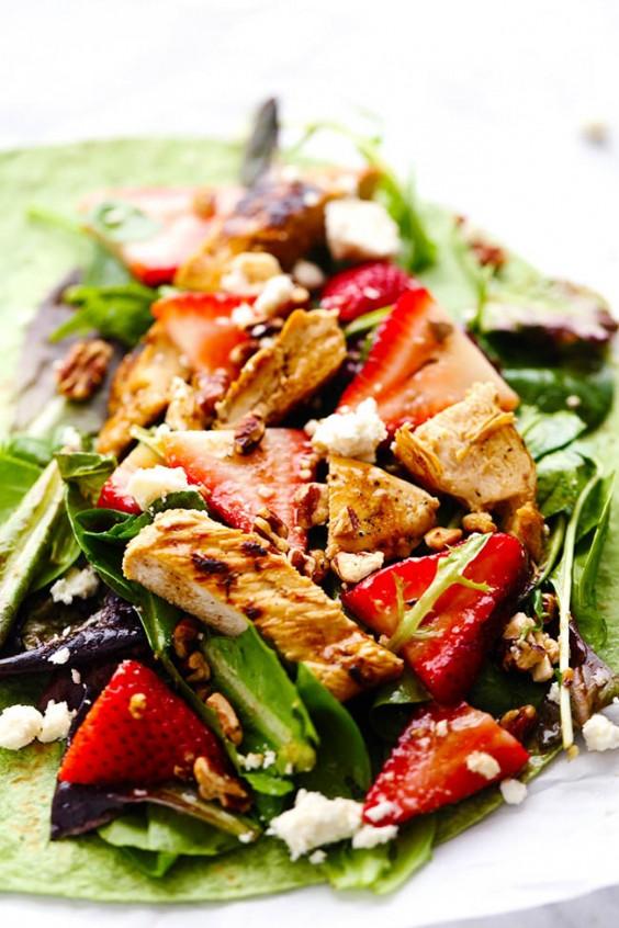Balsamic Strawberry Salad Wrap