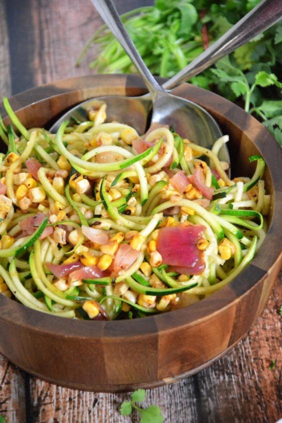 Roasted Corn and Zucchini Salad