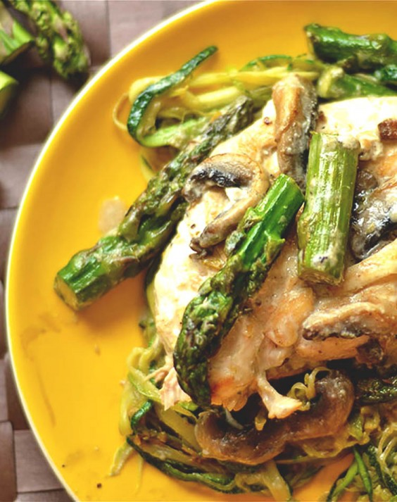 Low-Carb Recipes: Creamy Lemon Chicken With Asparagus and Mushrooms