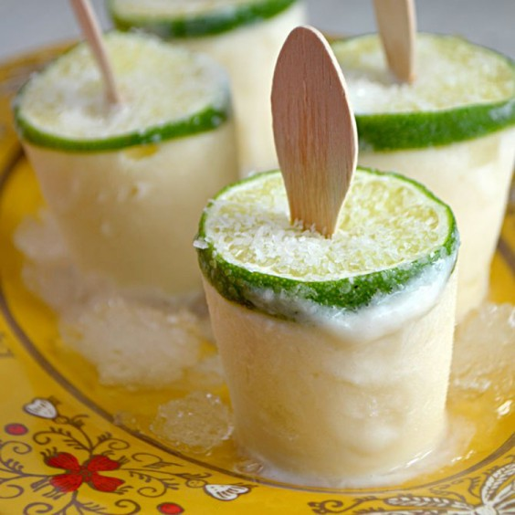Mexican Recipes: Creamy Margarita Popsicles