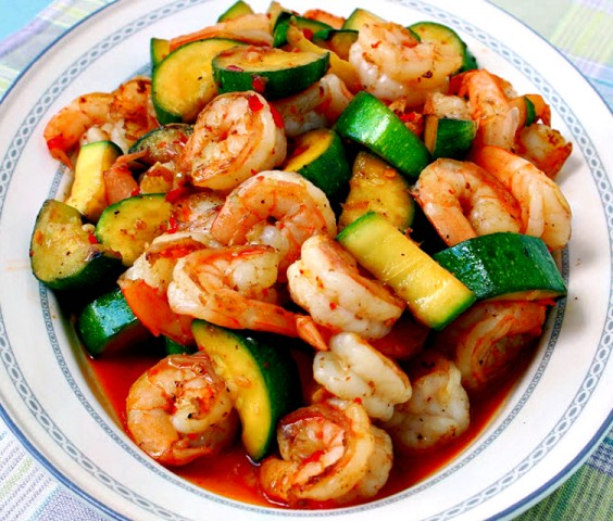 Healthy Dinner Recipes for Beginners: Sweet and Spicy Shrimp and Zucchini Stir-Fry by Manila Spoon