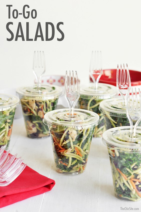 Healthy Lunch Ideas: To-Go Kale and Chicken Salad