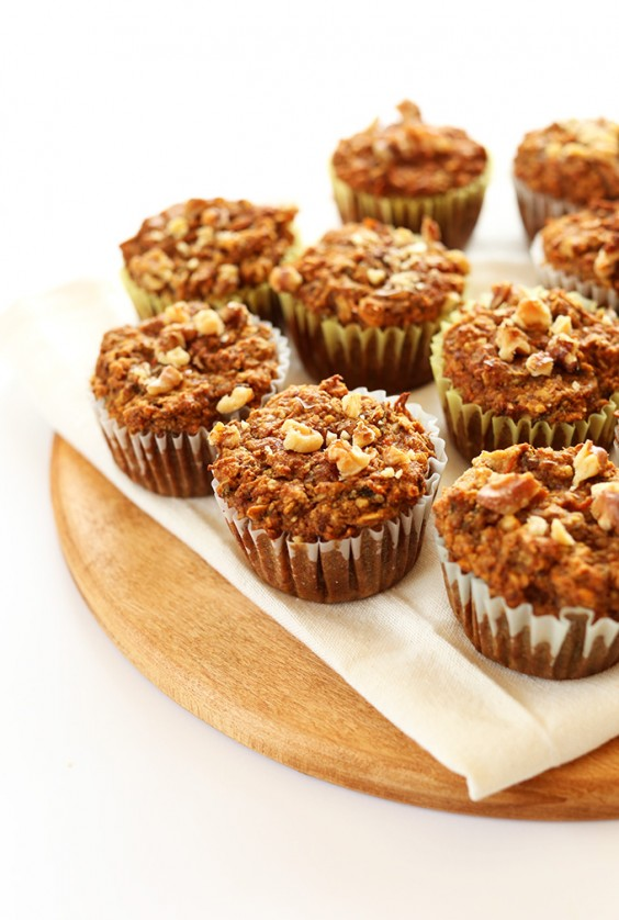 One Bowl Carrot Cake Apple Muffins