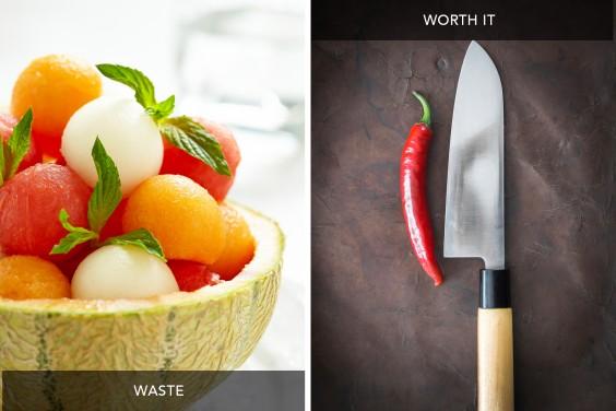 Melon Baller vs Chef's Knife