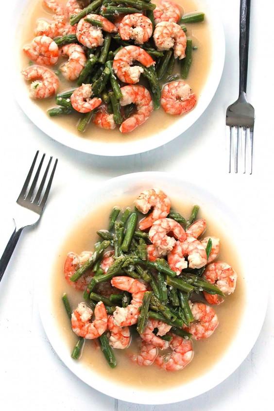 Whole30 Dinner Recipes: Shrimp and Asparagus Stir-Fry