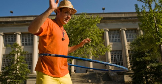 Bet your Hula-Hoop skills aren't as good as his