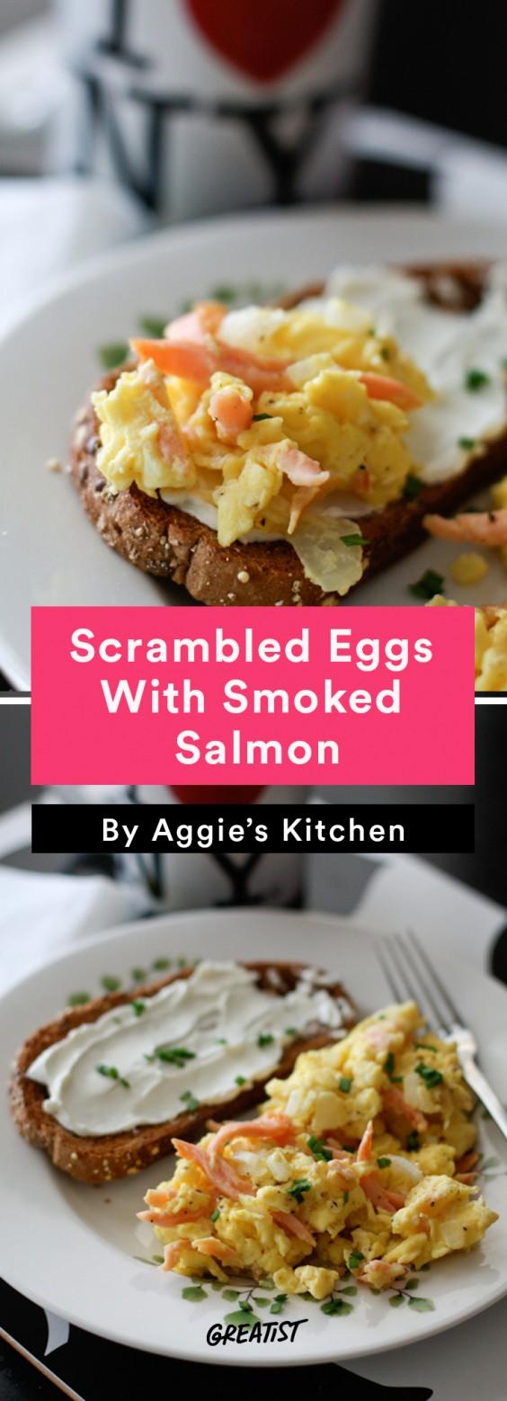 Scrambled Egg Recipes: Smoked Salmon Scrambled Eggs