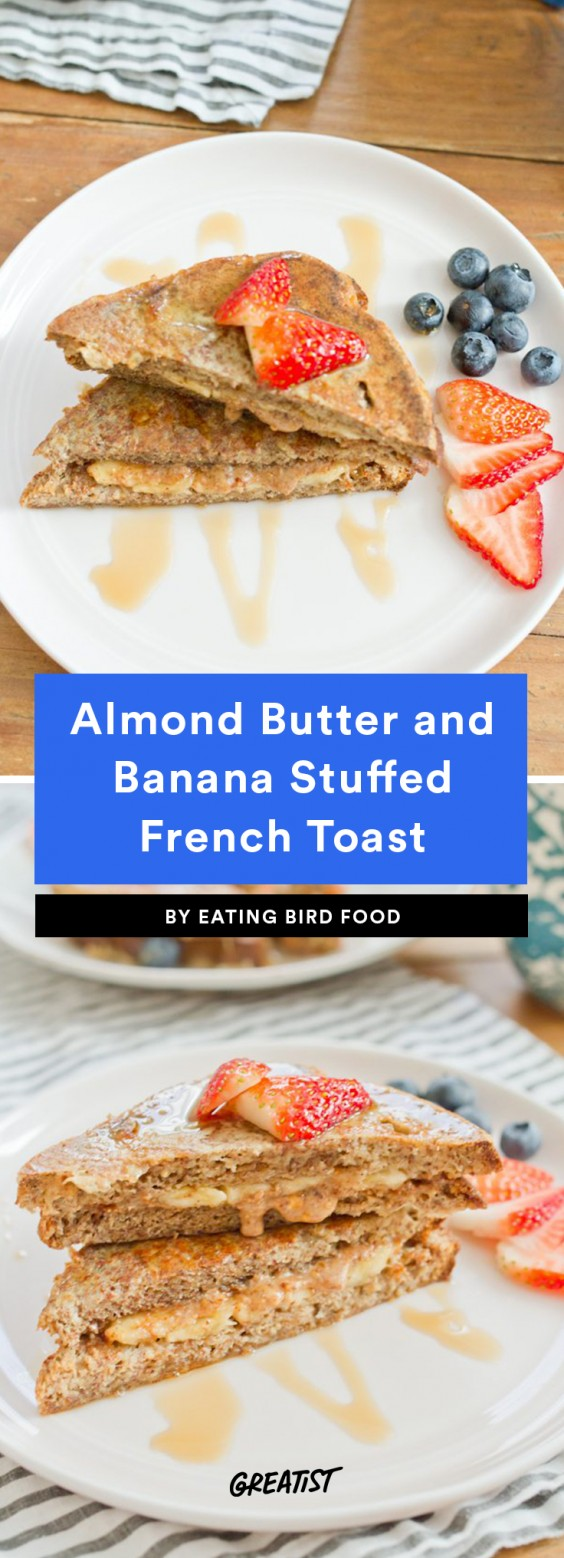 Almond Butter and Banana Stuffed French Toast
