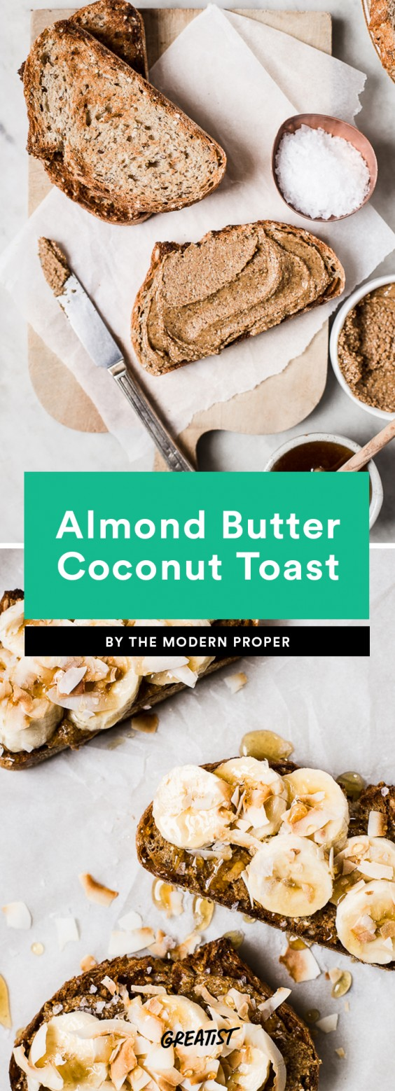 Almond Butter Coconut Toast