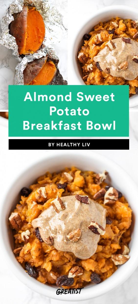 Almond Sweet Potato Breakfast Bowl