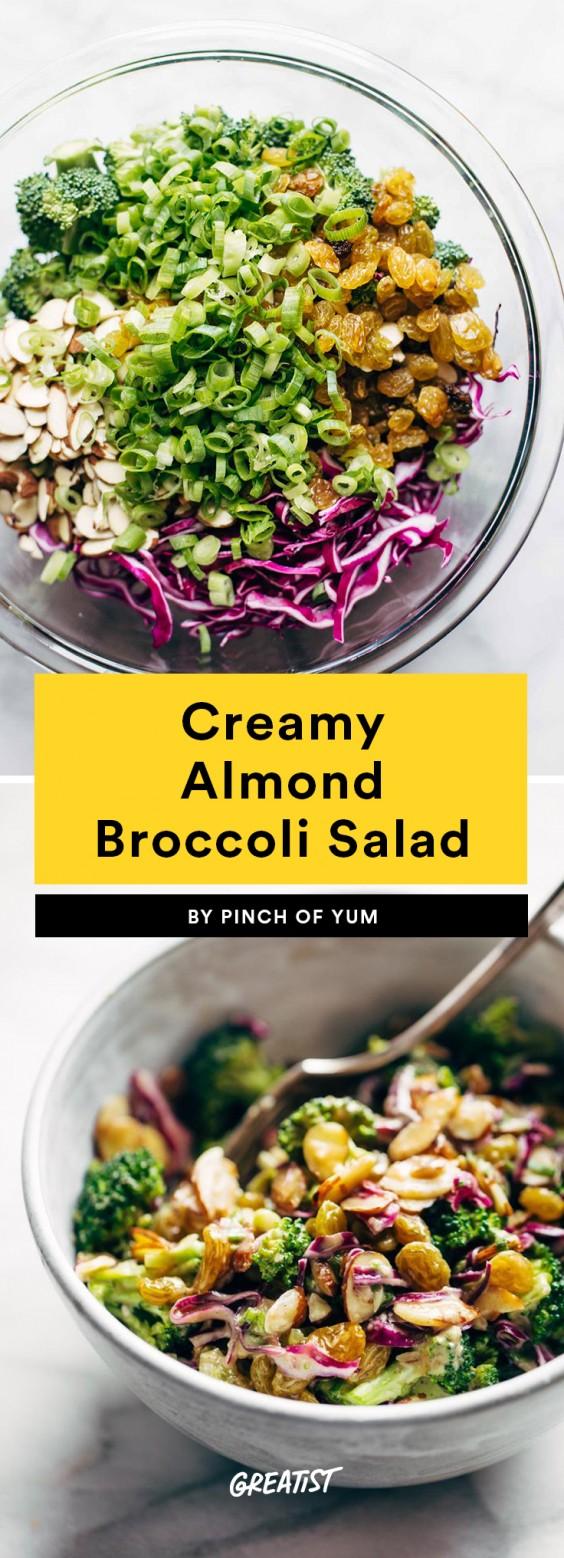 Creamy Almond Broccoli Salad Recipe