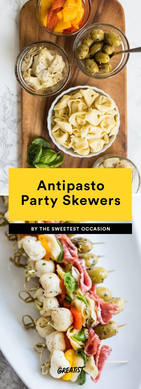 Antipasto Party Skewers Recipe