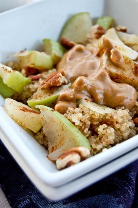 Apple Peanut Breakfast Quinoa