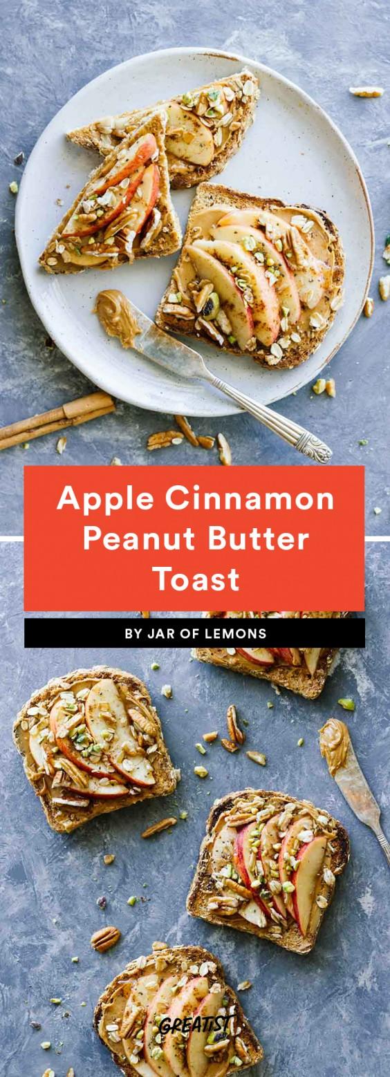 Apple Cinnamon Peanut Butter Toast