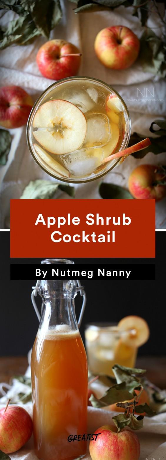 apple cocktails: Apple Shrub Cocktail
