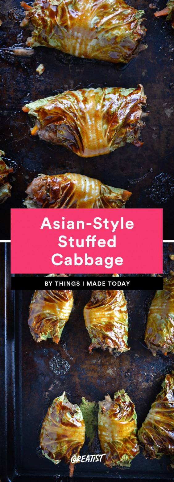 Asian-Style Stuffed Cabbage Recipe
