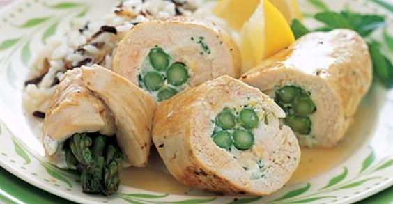 Asparagus-Chicken Roulades