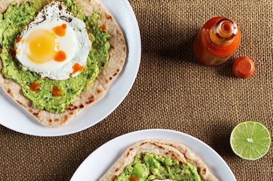 1. Avocado and Egg Breakfast Pizza