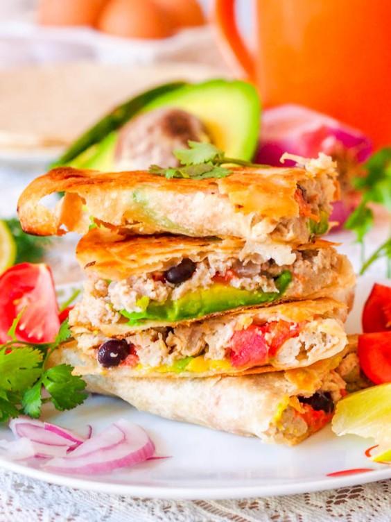 1. Scrambled Egg and Veggie Breakfast Quesadillas