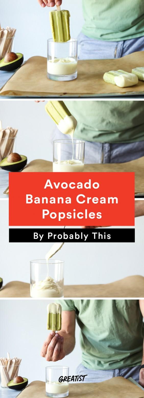 Popsicles: Avocado Banana
