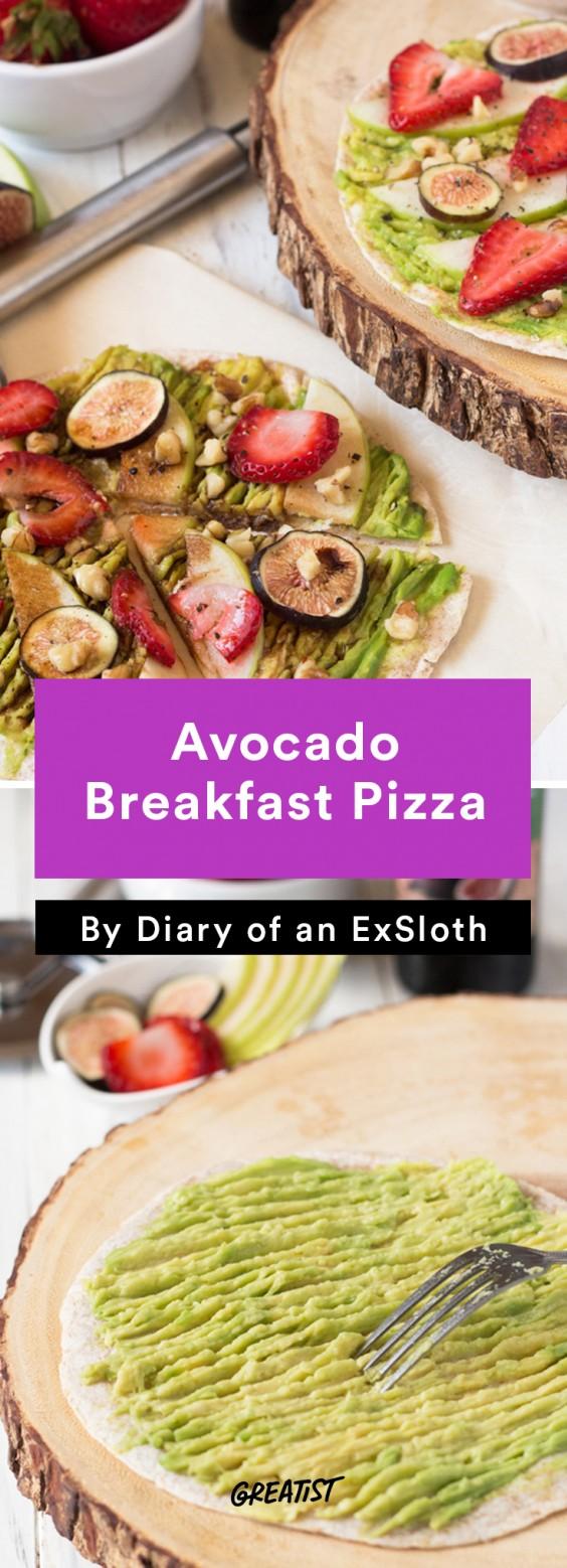 ExSloth roundup: Avocado Breakfast Pizza