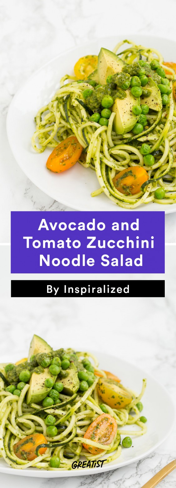 Inspiralized Roundup: Avocado, Tomato, and Zucchini Noodle Salad
