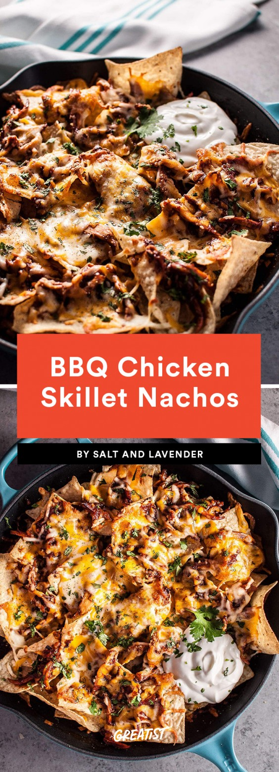 BBQ Chicken Skillet Nachos Recipe