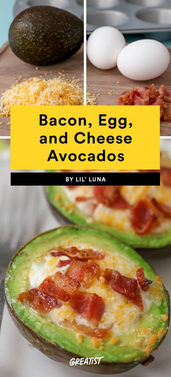 Bacon, Egg and Cheese Avocados