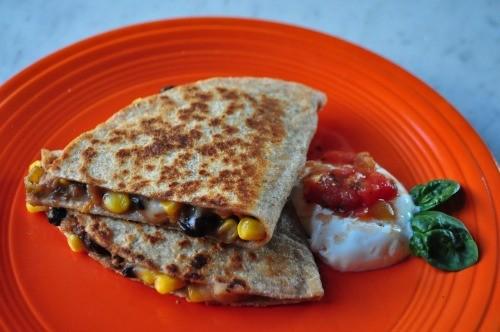 11. Black Bean and Corn Quesadillas