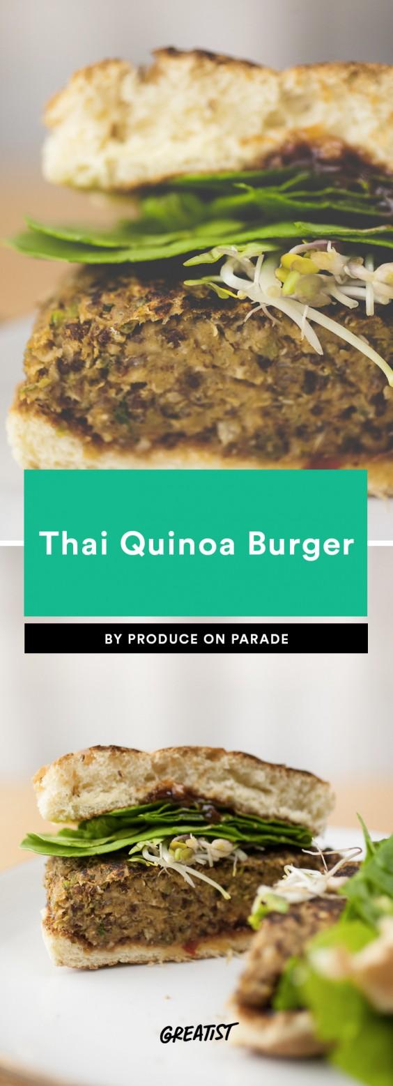 THAI QUINOA BURGER