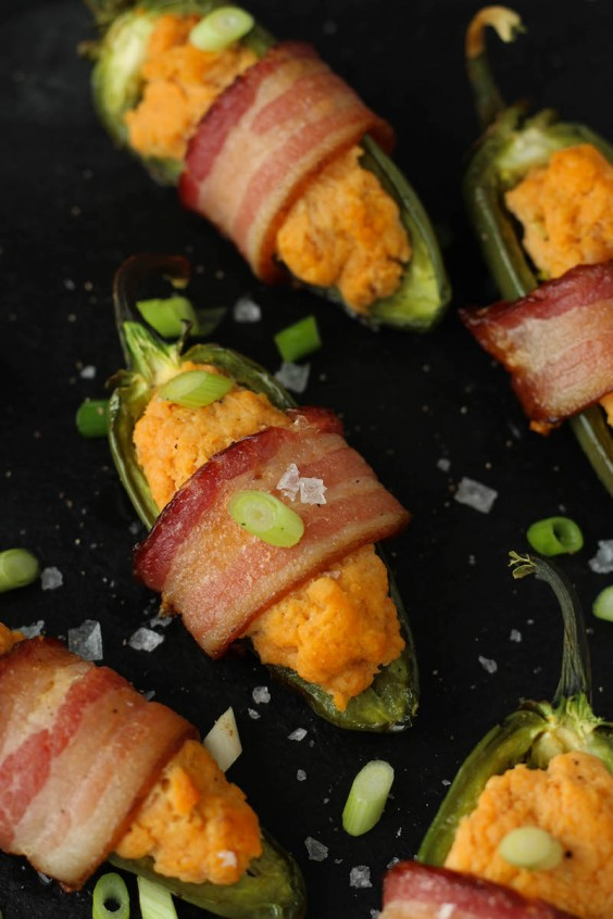 Paleo Bacon Wrapped Buffalo Chicken Jalapenos Recipe