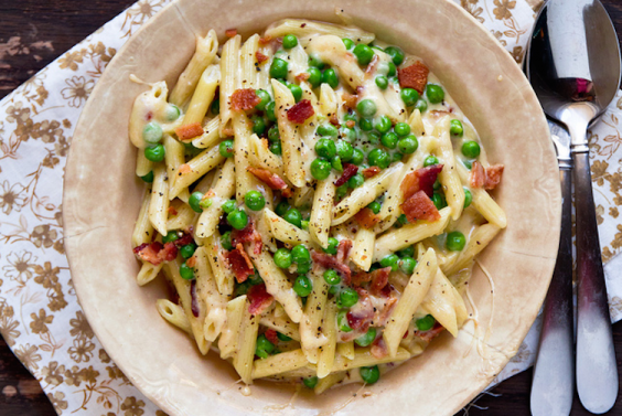 Bacon and Pea Mac n Cheese