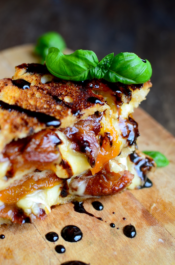 3. Bacon, Brie, and Apricot Grilled Cheese